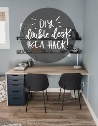 plywood diy double desk ikea
