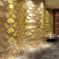 stick wall leather wall sticker l and stick tiles faux leather wall panels hexagon gold wood