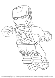 Top 20 iron man coloring pages: Learn How To Draw Lego Iron Man Lego Step By Step Drawing Tutorials