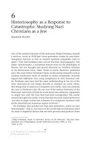 historiosophy as a response to catastrophe studying nazi inside