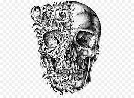 calavera skull tattoo drawing cool skull tattoo design drawing png