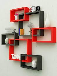Amaze Shoppee <b>MDF Wall</b> Decoration Intersecting <b>Floating</b> Shelves ...