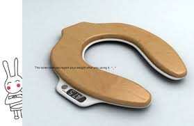 toilet seat with scale. toilet-seat-scale toilet seat with scale ohgizmo!