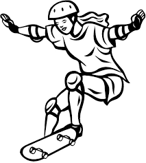 Bold Ideas Skateboard Pictures To Color Skateboarding Coloring Page