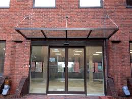 stainless steel glass canopy modern door canopies for home decor gl