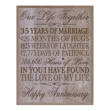 35th wedding anniversary wall plaque gifts for couple custom made 35th anniversary gifts for her wall plaque special dates to remember by dayspring