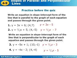 writing equations of parallel and perpendicular lines worksheet math writing equations of parallel and perpendicular lines