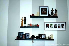 floating shelf decor floating wall shelving ideas for living room walls shelves decor antique metal w