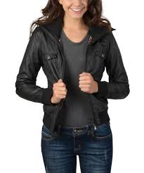 all gone black high collar faux leather jacket