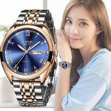 <b>LIGE Fashion Women Watches</b> Ladies Top Brand Luxury Stainless ...