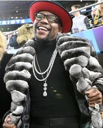 floyd mayweather s 100 000 chinchilla fur coat was the worst part of super bowl lii golf digest