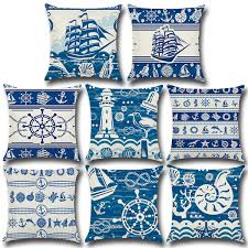 Nautical Chart Pillows 45 45 Cm Pillow Covers Cotton Linen Square Pillow Case Nautical Chart Sofa Car Chair Waist Cushion Cover Home Decoration Pillowslip Size Of A Standard