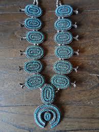 native american jewelry zuni squash