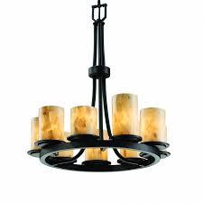 justice design alr 8766 10 mblk dakota 9 light ring chandelier in matte black