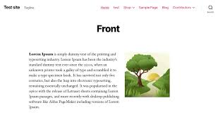 Example Of The Front Page Of Twenty Twenty Theme Not Using