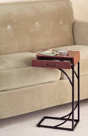 Image of: Perfect Sofa Side Table Slide Under