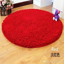 red round rug round big red washable new thick chenille carpet gy rugs bath mat