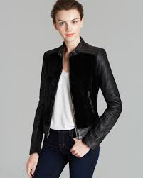 andrew marc black leather jacket washed shrunken lamb