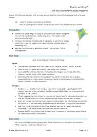 the kite runner essay best ideas about the kite runner film the  the kite runner by khaled hosseini prose key stage english 2 preview