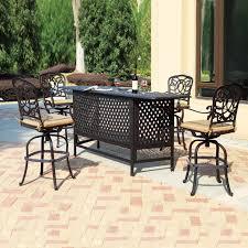 darlee florence 5 piece outdoor bar set atg s outdoor patio bar sets canada