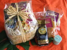tropical gift basket with our aloha