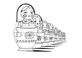 Small Picture Russian dolls Coloring pages for adults JustColor