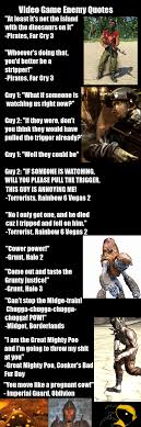 Video Game Enemy Quotes
