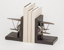 airplane bookends aviation themed furniture