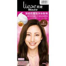 Buy Kao Liese Blaune Creamy Foam Color Hair Dye Kit 6 Dark