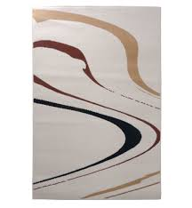 budget rugs drifting waves rug in cream and black available medium to x large sizes