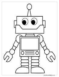 Small Picture Free Printable Robot Image Photo Album Robot Coloring Pages at