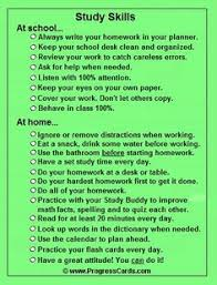 good study habits so simple but i still need a reminder no  study skills progress card checklist for study habits