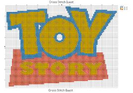 Free Toy Story Cross Stitch Pattern Logo Cross Stitch Quest