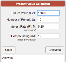 online cash flow calculator present value of a future sum calculator