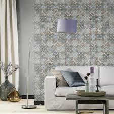 faux kitchen tile wallpaper. rasch moroccan baroque tile pattern wallpaper realistic faux effect 526301 kitchen \