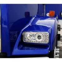 kenworth w900 headlights raney s truck parts kenworth w900 t800 projector headlights led turn signal visor close up