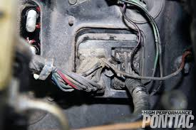 how to install a reproduction wiring harness high performance pontiac vibe wiring harness 9 the engine and forward lamp harnesses are fastened to the firewall as a unit