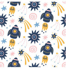 Space Pattern Adorable Space Galaxy Childish Seamless Pattern Royalty Free Vector