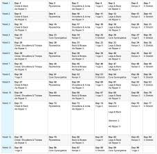 the p90x workout schedule es in 3 diffe forms clic lean and doubles