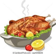 baked chicken clipart. Brilliant Chicken Roasted Baked Chicken  Csp45468246 For Baked Chicken Clipart
