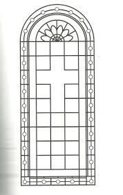 Coloring Page Religious Cross Stained Glass