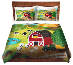 dianoche duvet covers twill daybreak on the farm contemporary monogrammed bedding