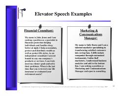 Free Download Sample How To Write An Elevator Speech About Yourself
