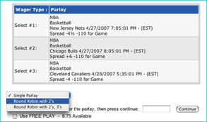 Round Robin Parlay Chart Types Of Sports Bets Sportsbook 5dimes Sportsbook
