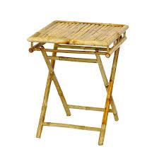 amazing compact folding end table in natural bamboo at folding table design amazing bamboo furniture design ideas