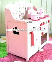 kids kitchen set pink for sets toy wooden ikea