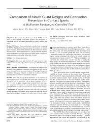 Football Mouth Guard Design Pdf Comparison Of Mouth Guard Designs And Concussion