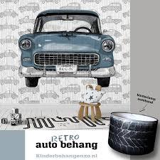 Retro Auto Behang Met Eigen Naam