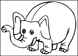 Mom And Baby Elephant Coloring Pages Picture Of Elephant To Color