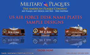 air force desk name plates design ideas